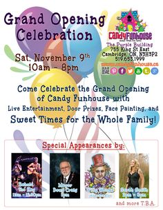 grand opening flyer featuring musician sarah smith behold the key with guest appearances from