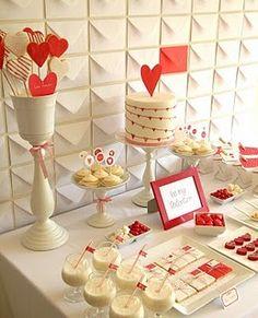 Decoração romântica e parede de envelopes. Não é genial?