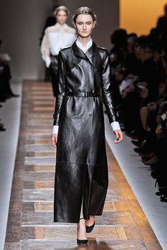 Valentino: black leather edge