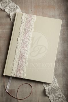 Chic wedding guest book