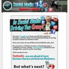 Maximise The Viral Effects Of Social Media, And Build A Huge Web Of Interconnections, To Integrate, Automate And Grow Your Social Media Community To Explode Your Sales. Http://www.socialmediaspidersweb.com/jvblog See more! : http://get-now.natantoday.com/lp.php?target=bonusvalue
