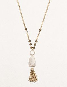 Tassel Stone Pendant Necklace