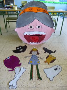 There was an old lady who swallowed a bat storytelling and printables, a song and some other Halloween activities