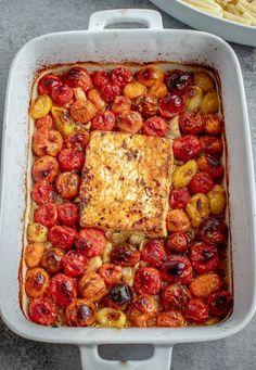 Tomato Pasta Recipe, Feta Pasta, Tomato Soup Recipes, Pasta Recipes, Cooking Recipes, Dinner Recipes, Pasta With Feta Cheese, Creamy Tomato Pasta Sauce, Linguine Recipes