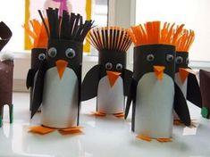 Pinguins gemaakt uit WC-rolletjes - Libelle