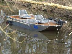 Fishing aluminium boat - Small boat - Lightweight dinghy - Tender boat