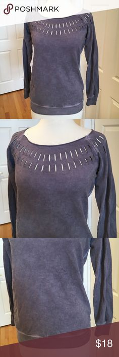 Cut out sweatshirt 💜Great condition. Ombré tie die effect. Super soft Tops Sweatshirts & Hoodies