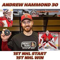 Andrew Hammond Records First NHL Win | Spyder Sports Lounge Montreal Canadiens, Ottawa, Nhl, Hockey, Coaching, Lounge, Baseball Cards, Sports, Training