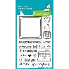 Lawn Fawn Awesome Stamp 18 clear stamps  Photo door iluvdesign