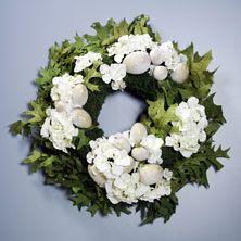 Hydrangea Egg Wreath