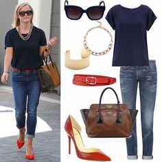 Loving Reese Witherspoon's perfectly pulled together preppy look