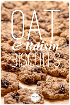These Oat & Raisin biscuits are really easy to make and taste delicious.