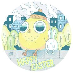 Illustration by Mikko Saarainen for Napa Illustrations Easter greeting, 2014