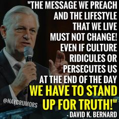 """We have to stand up for truth!"""