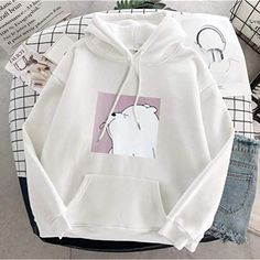 Casual pullovers – Accessories and All Cute Lazy Outfits, Girl Outfits, Fashion Outfits, Trendy Hoodies, Cool Hoodies, Sweat Cool, T Shirt Sport, Vetement Fashion, Aesthetic Clothes