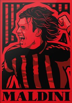 Milan Wallpaper, Paolo Maldini, Ac Milan, Past, Retro, Football, Legends, Passion, Graphics