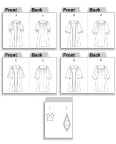 Butterick preschool graduation gown pattern.