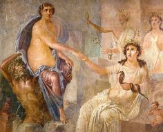"""from the Temple of Isis in Pompeii and shows Isis receiving the """"bull-maiden"""