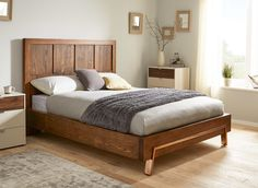 Grant Dark Wood and Copper Bed Frame | Dreams