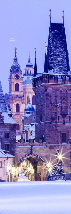 Christmas Time, Charles Bridge - Prague Czech Republic
