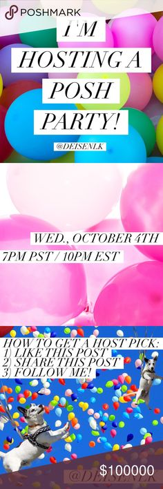 🎈Party with me! 🎈 Please follow the directions above to be considered for a Host Pick! Xo, Lauren Other
