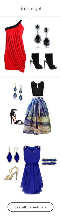 """""""date night"""" by jen144953-1 ❤ liked on Polyvore featuring Bling Jewelry, Chicwish, Carolee, Sergio Bari, ABS by Allen Schwartz, Ettika, Halston Heritage, Eye Candy, TFNC and Michael Antonio"""