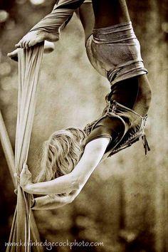 Girl Aerial Silks Rnaissance Faire by KevinHPhotography