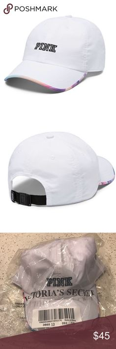 VS VICTORIAS SECRET PINK SPORT CLIP BASEBALL HAT VS VICTORIAS SECRET PINK SPORT CLIP BASEBALL HAT CAP                                 Product Details Top it off in the season's must-have hat! Color: White Sport clip Adjustable One size fits all Imported nylon.   PAIR WITH YOUR FAVORITE VS VICTORIAS SECRET PINK SLIDE SANDALS PINK Victoria's Secret Accessories Hats