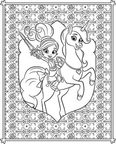 nella the princess knight coloring pages