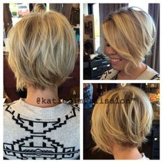 Brightened up Vicki Rose blonde for winter :) - Cheveux 2019 Thin Hair Haircuts, Short Bob Haircuts, Cool Haircuts, Layered Haircuts, Uneven Bob Haircut, A Line Haircut, Rose Blonde, Short Blonde, Blonde Hair