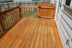 DEFY Extreme Wood Stain in Cedartone on a pressure treated deck
