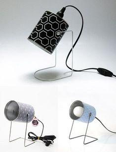 Lámparas retro con latas, ©Mr & Mrs Bin in A little market | Retro stylish lamps made of cans: