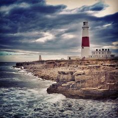 A year ago in #Portland. I bet there's still such dramatic sky today  #dorset #lighthouse #cliff #coast #tide #waves #clouds #sky #dramaticsky #rocks #remix - @Jiri Siftar- #webstagram
