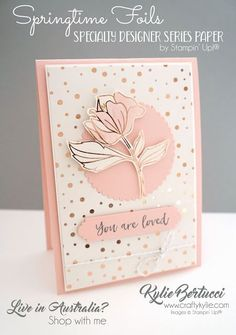 Flowering Foils Specialty Designer Series Paper 152312 (Stampin' Up! Foil Paper, Paper Cards, Cards Diy, Card Making Inspiration, Making Ideas, Magnolia Stamps, Stamping Up Cards, Rubber Stamping, Mothers Day Cards