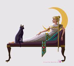 Egyptian Princess Serenity | Priscilla [pixiv]