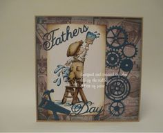 fathers day card using distress ink. Ann