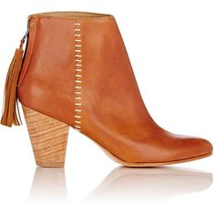Ulla Johnson Griffin Tassel Ankle Boots (€465) ❤ liked on Polyvore featuring shoes, boots, ankle booties, nude, nude ankle boots, short boots, ankle boots, high heel boots and bootie boots