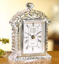Fifth Avenue Crystal Lisbon Crystal Clock - for the mantle #onekingslane #designisneverdone