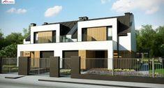 Homekoncept 47B 117.33 m2   Projekt domu bliźniaczego   projekty domów   kreoDOM.pl Style At Home, Home Fashion, Second Floor, House Plans, Pergola, Multi Story Building, House Design, Flooring, Mansions