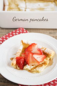 German Pancakes, AKA Fluffy Pancakes! - a family favorite, perfect for breakfast, brunch, or breakfast-for-dinner. My kids always get so excited when I make this recipe!