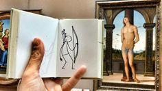 Elyx aime beaucoup se promener au Louvre. Toutes les œuvres sont source d' #inspirationMW ! #MuseumWeek cc @ElyxYak