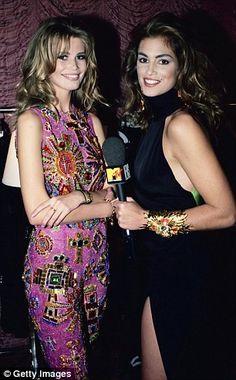 Cindy Crawford interviews supermodel Claudia Schiffer , 1991