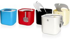 Say hello to Modkat  The award winning modern cat litter boxthat keeps litter in its place.
