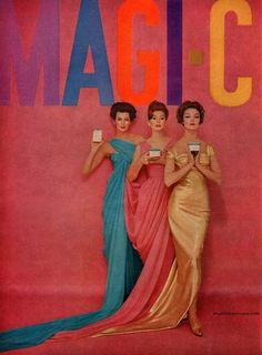 Carmen Dell'Orefice, Suzy Parker and Jean Patchett for Magi-Care - photo by Richard Avedon [1959]
