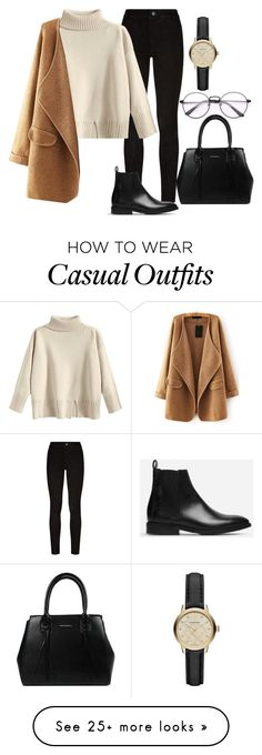 """Casual Winter Day"" by jazmingaribay on Polyvore featuring Paige Denim, WithChic, Everlane and Burberry"