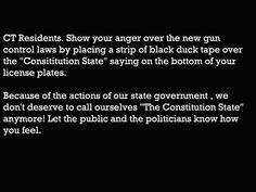 Protest the new gun control laws.