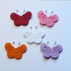 Crocheted butterflies. I so want to learn to do this...
