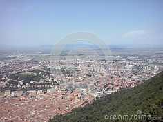 Brasov city, seen from Tampa mountain, Romania.