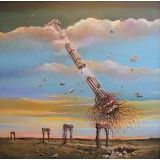 Anti-gravitation I, oil on canvas, 70 x 70 cm, by Todor Ignatov - Tony http://buyart.tonyignatov.eu/index.php?route=product/product_id=52