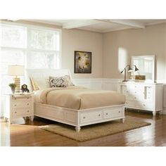 Shop Coaster Furniture Sandy Beach White Bedroom Set with Stoarge King Bed with great price, The Classy Home Furniture has the best selection of Master bedroom Complete Sets to choose from Solid Wood Platform Bed, Furniture, Bed Storage Drawers, White Panel Beds, White Paneling, White Bedroom Set, Bed With Drawers, White Bedroom Furniture, Remodel Bedroom